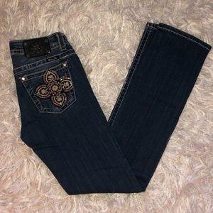 👖Miss Me Straight Jeans 👖  28x33   EUC!!